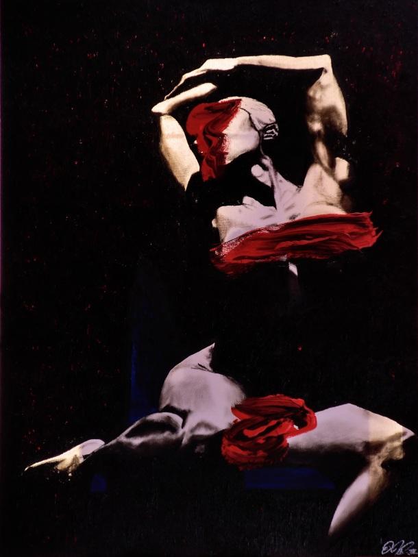 Veils of Carnality, 40x30 (Oil x Acrylic) $400
