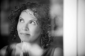 Anjanette Delgado author photo (B&W)