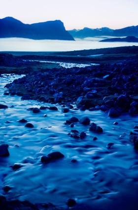 Pangnirtung (Photography. Film: 35mm Kodachrome 25, Camera: Nikon F2 , Lens: Nikon 24mm)